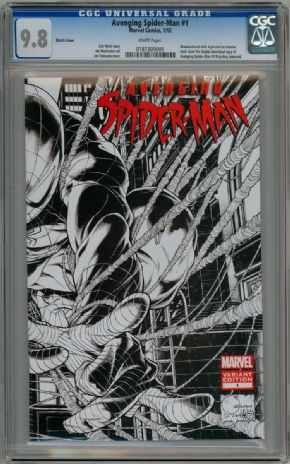 Avenging Spider-man #1 Joe Quesada Retail Sketch Variant 1:200 CGC 9.8 Marvel comic book